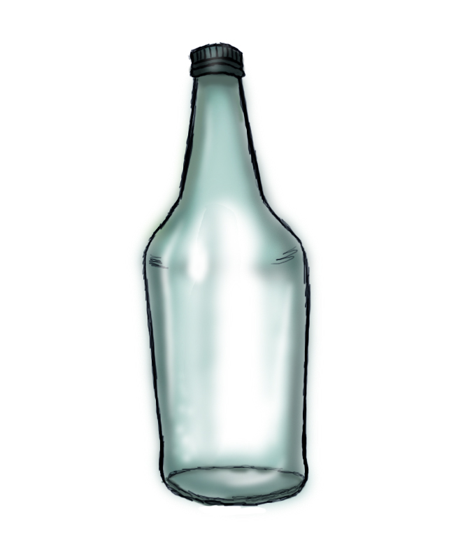 675x789 How To Draw A Bottle Steps