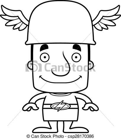 409x470 cartoon smiling hermes man a cartoon hermes man smiling