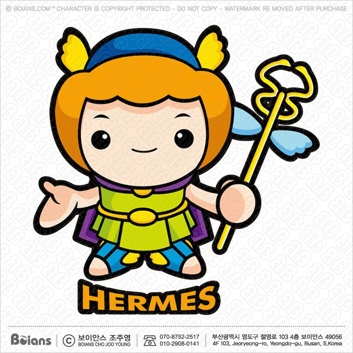 700x700 vector the god of strangers,hermes character olympus god isolated