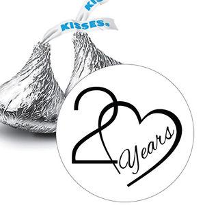 300x300 Years Wedding Anniversary Hershey Kiss Stickers Favors Ebay
