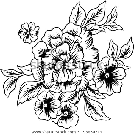 450x455 Huge Collection Of 'big Flower Drawing' Download More Than