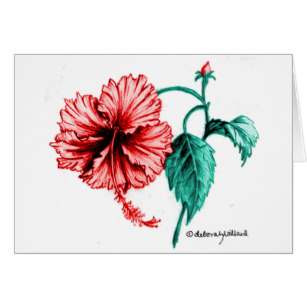 307x307 Hibiscus Flower Drawing Gifts On Zazzle Ca