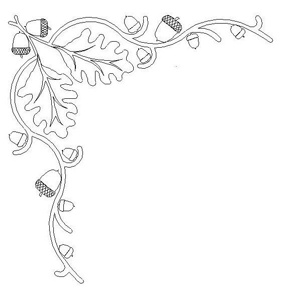 563x580 Collection Of Autumn Leaves Drawing Border High Quality