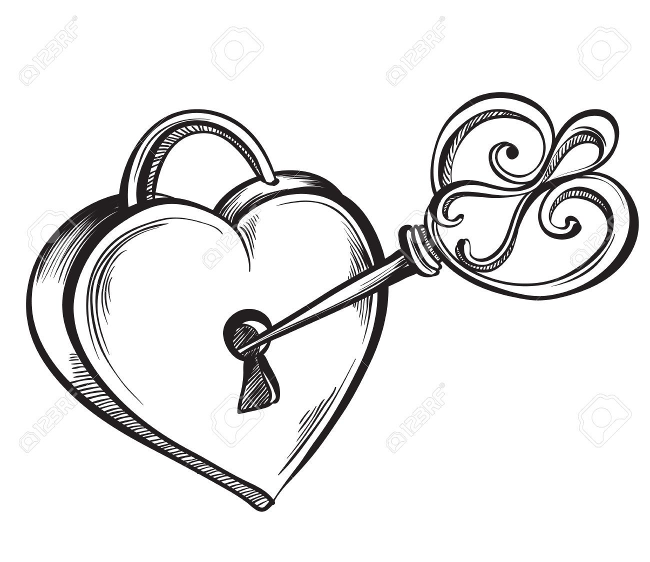 1300x1124 Collection Of Lock And Key Clipart Black And White High