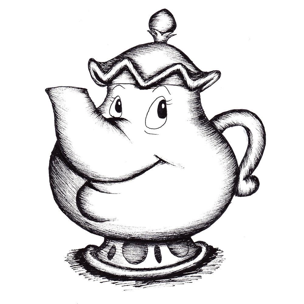 1000x1000 Teapot Drawing