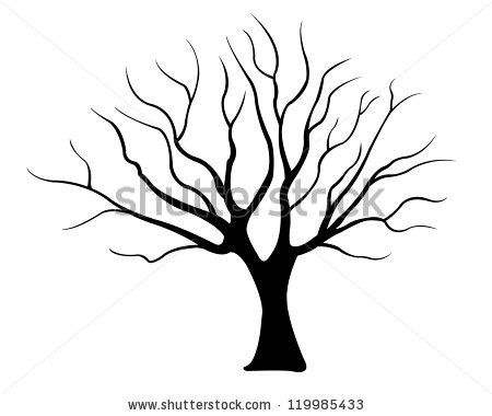 450x380 Collection Of Drawing Of A Leafless Tree High Quality Free