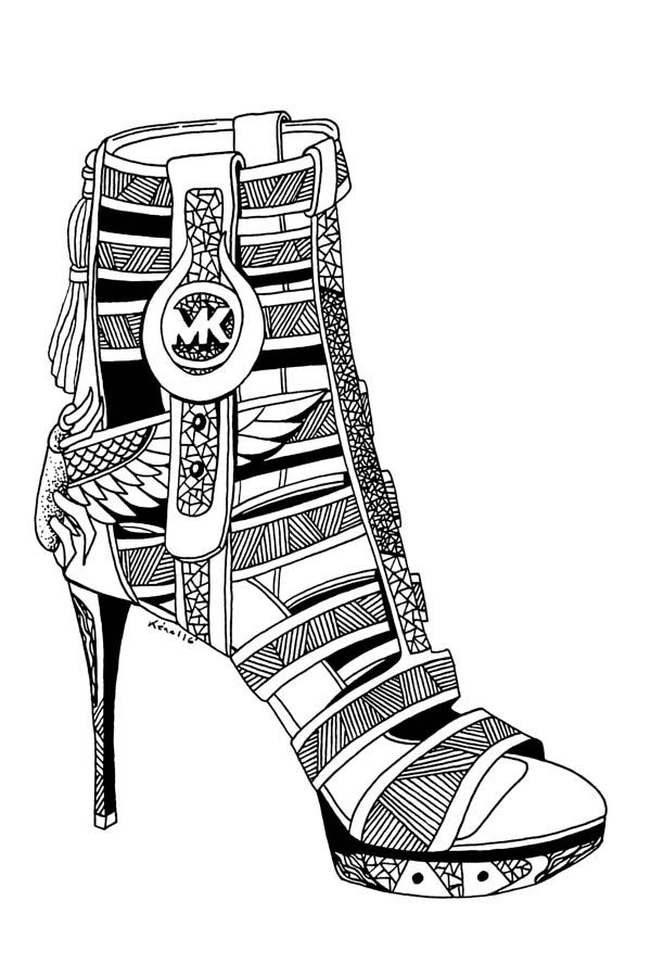 600x900 Beautiful Michael Kors Shoes Drawings For Fashion Lovers Artsy