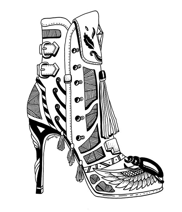 600x700 Beautiful Michael Kors Shoes Drawings For Fashion Lovers High