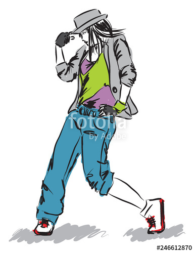 386x500 Hip Hop Style Dance Illustration E Stock Image And Royalty Free