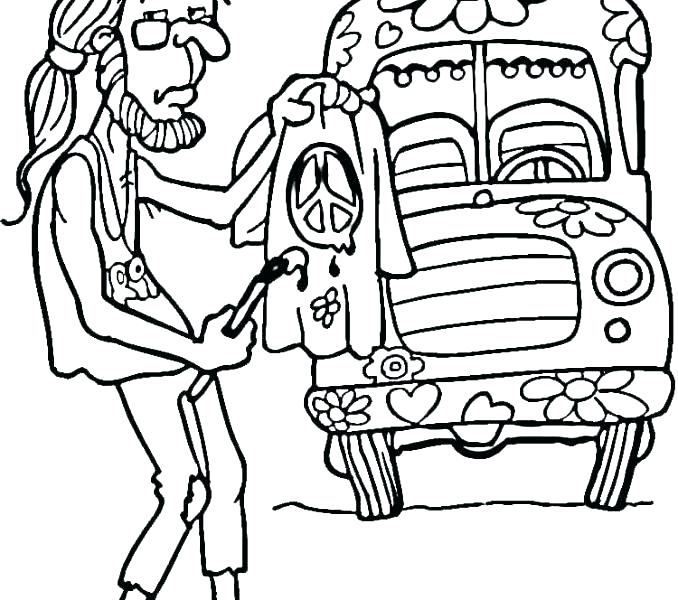 678x600 Hippie Flower Coloring Pages Hippie Coloring Pages Coloring Ideas