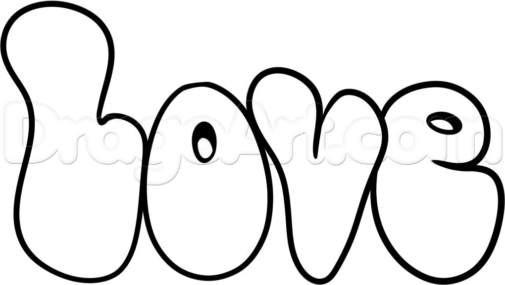 1020x576 How To Draw Hippie Love, Step