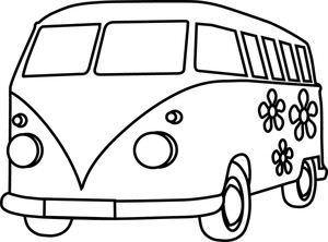 Hippie Van Drawing Free Download Best Hippie Van Drawing