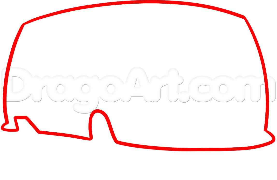 1146x744 How To Draw A Hippie Van, Step