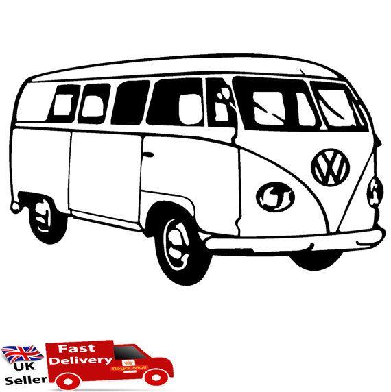 570x572 vdubs van drawing, vw hippie van