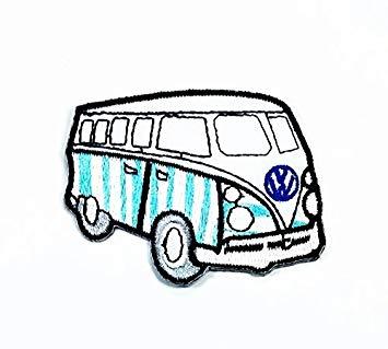 355x319 X Blue White Vw Volkswagen Camper Van Bus Car Hot Rod