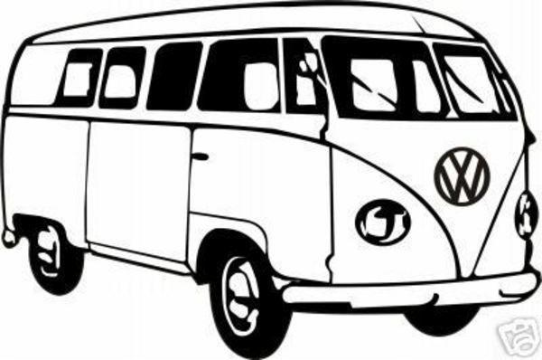 600x398 Vw Hippie Van Clipart Cliparthut Free Clipart Cricutcraft Room
