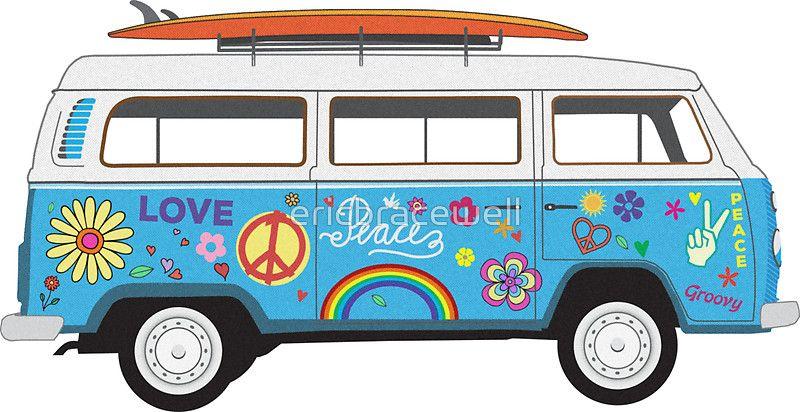 800x412 beach hippie van van art in hippie drawing, beach hippie