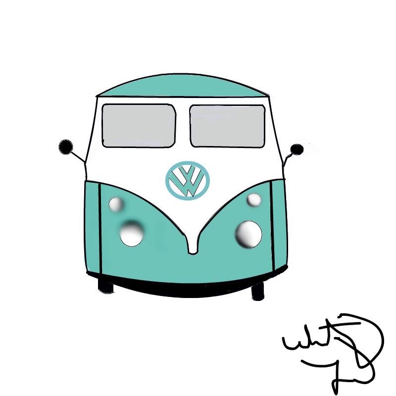 800x800 Bmw Hippie Car An Abstract Speedpaint Drawing