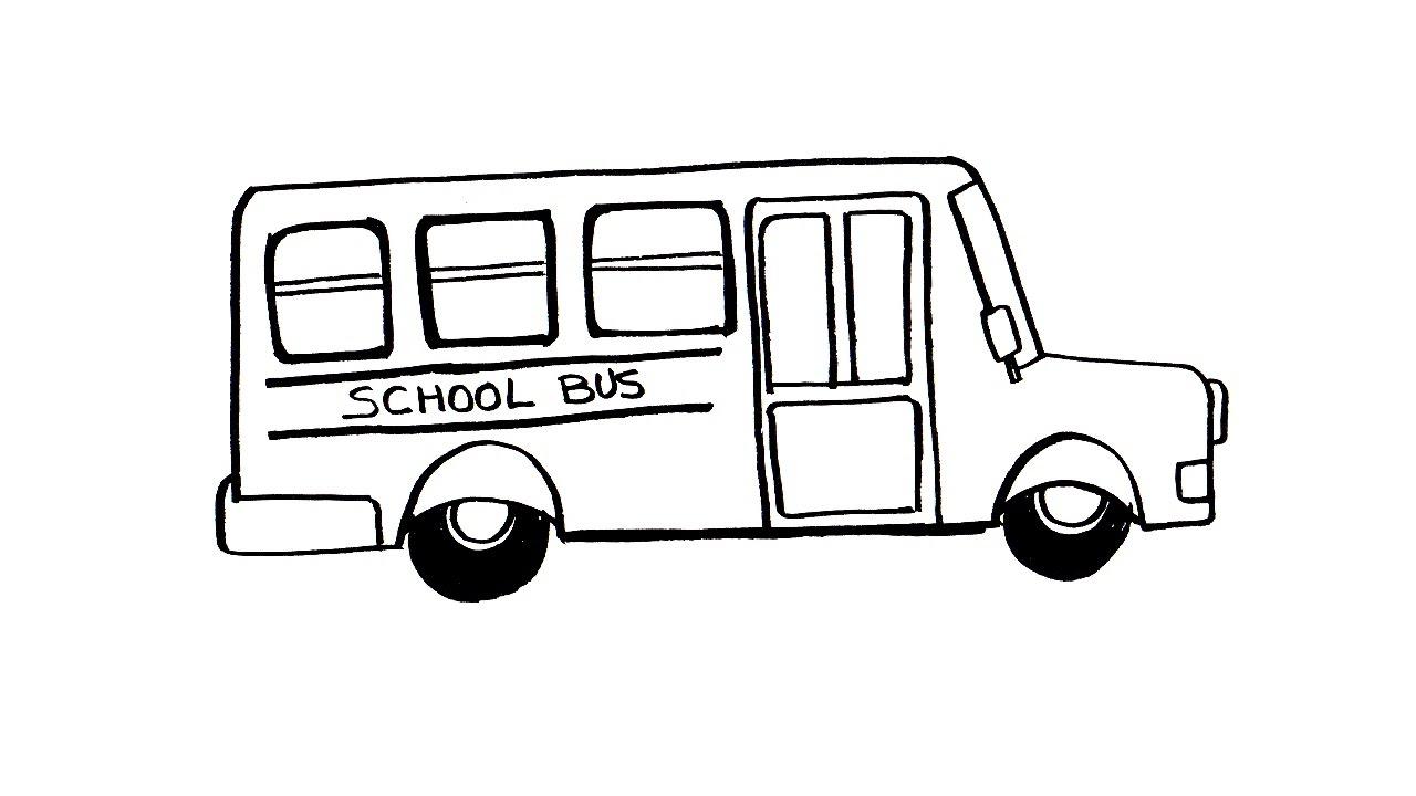 1280x720 Bus Drawing Free Download
