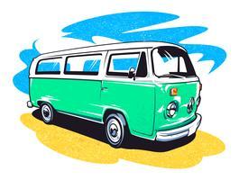 265x200 Hippie Bus Free Vector Art