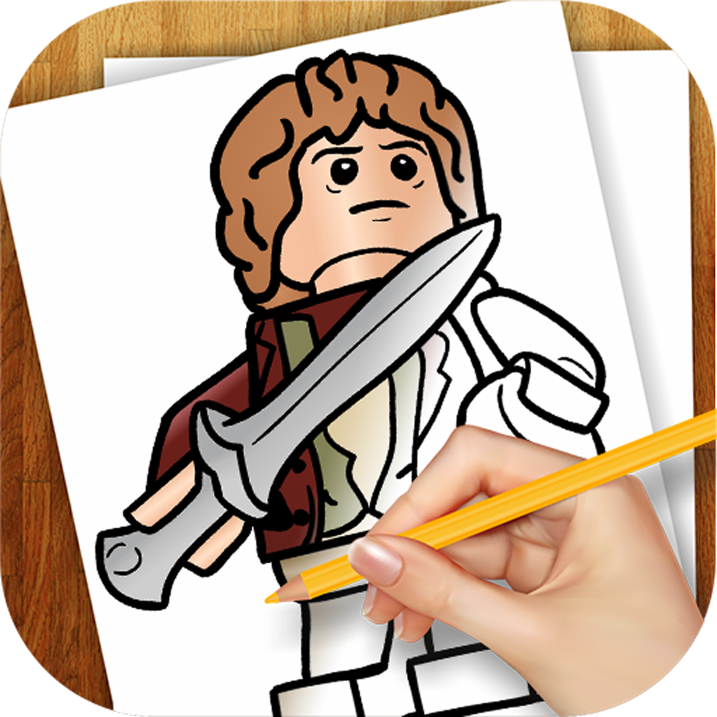 1024x1024 learn how to draw version for lego hobbit