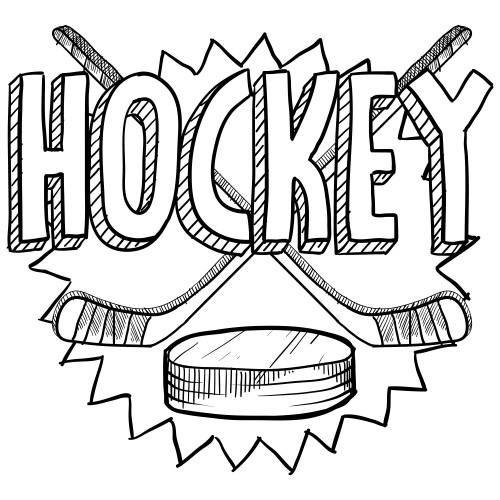 Hockey Goalie Drawing