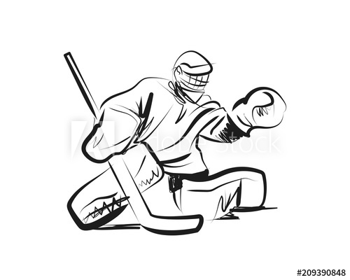 Hockey Goalie Drawing Free Download Best Hockey Goalie Drawing On