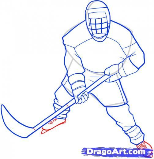 503x520 hockey player drawings step how to draw a hockey player how