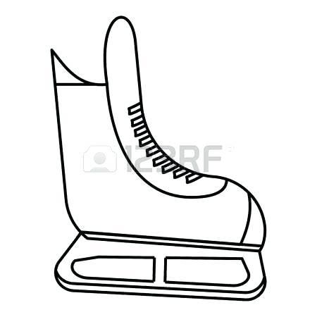 450x450 ice hockey skate icon outline illustration of ice hockey skate