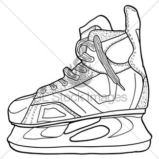 325x325 sketch of hockey skates skates to play hockey on ice, ve gl