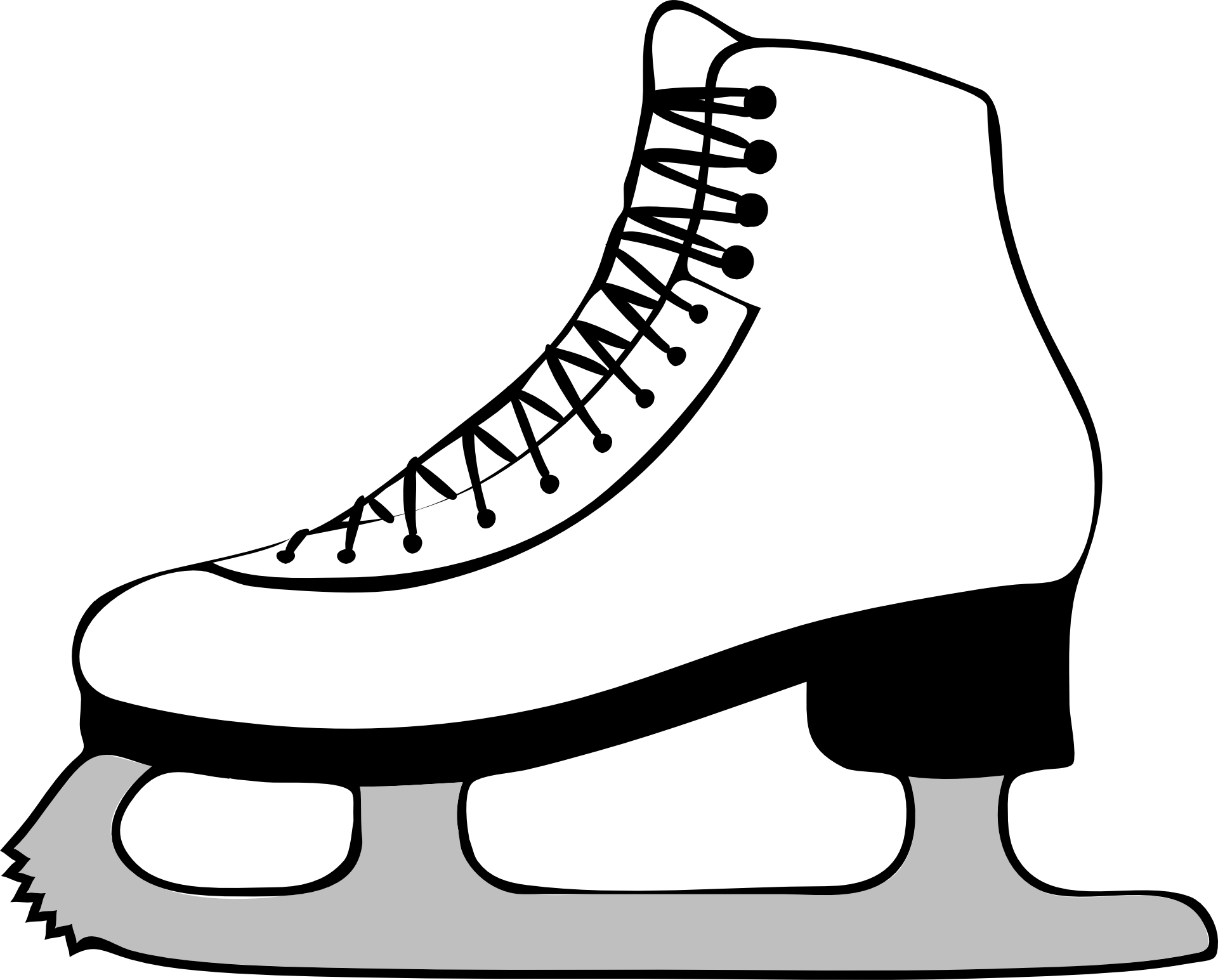 image about Hockey Skate Template Free Printable referred to as Hockey Skate Drawing Free of charge down load most straightforward Hockey Skate