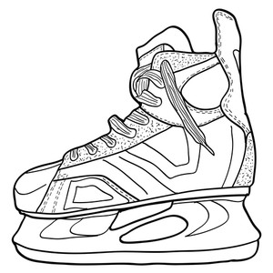 photograph regarding Hockey Skate Template Free Printable known as Hockey Skate Drawing No cost obtain ideal Hockey Skate