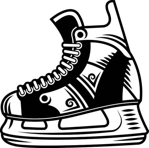 570x568 hockey skate drawing hockey skate equipment player stick mask