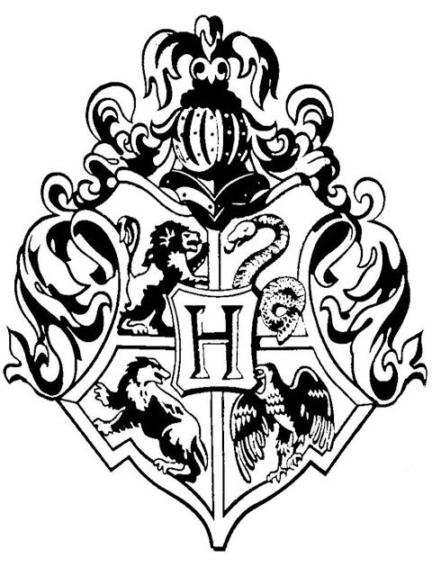 Hogwarts Crest Drawing