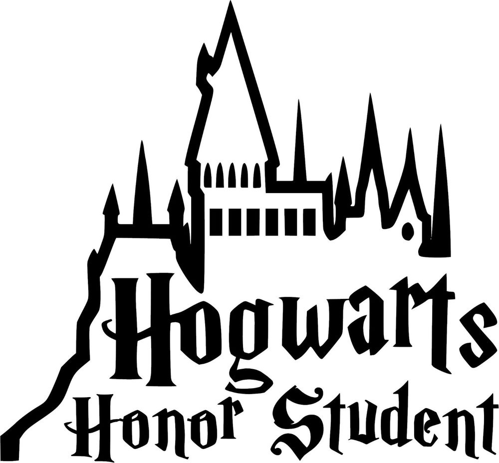 1000x928 Harry Potter Hogwarts Honor Student Vinyl Decal Sticker U Pick