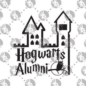 300x300 Hogwarts Alumni Decal White Rabbit Vinyl