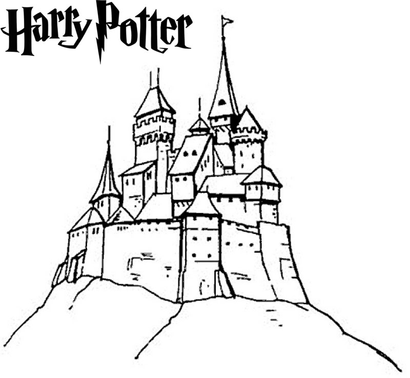 800x737 New Arrival Hogwarts Castle Coloring Pages For Harry Potter Fans