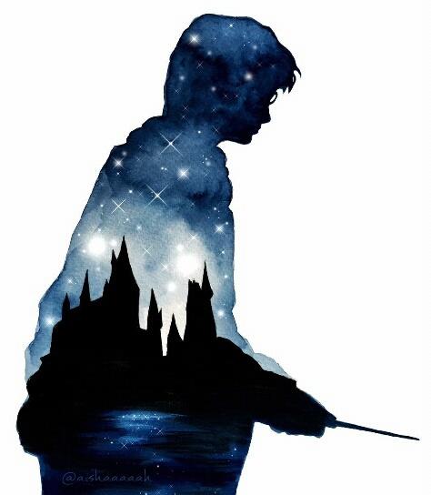 474x544 Art, Double Exposure, Draw, Harry Potter, Hogwarts