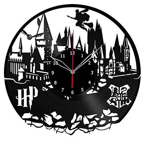 500x500 Handmade Vinyl Wall Clock Harry Potter Hogwarts Vinyl