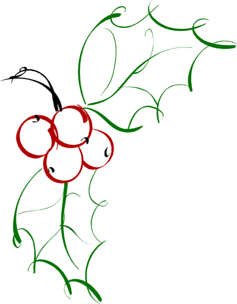 Holly Line Drawing | Free download best Holly Line Drawing ...