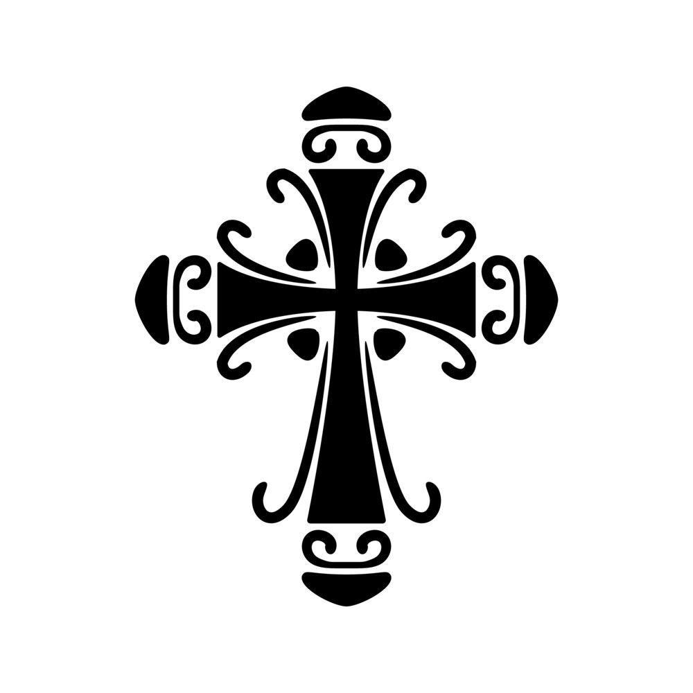 1000x1000 ornate cross stencil cricut cross drawing, stencils, free stencils