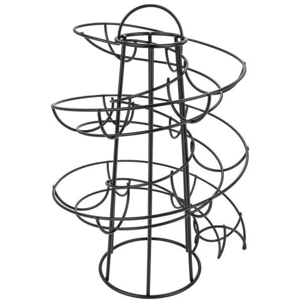 600x600 Southern Homewares Black Egg Skelter Deluxe Modern Spiraling