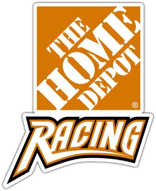 524x640 The Home Depot Racing Nascar Car Bumper Window Notebook Sticker