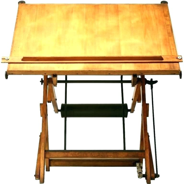 768x768 Wooden Drawing Table Drafting Hardware Small Vintage Wood