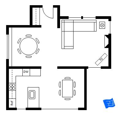 395x376 Dining Room Design