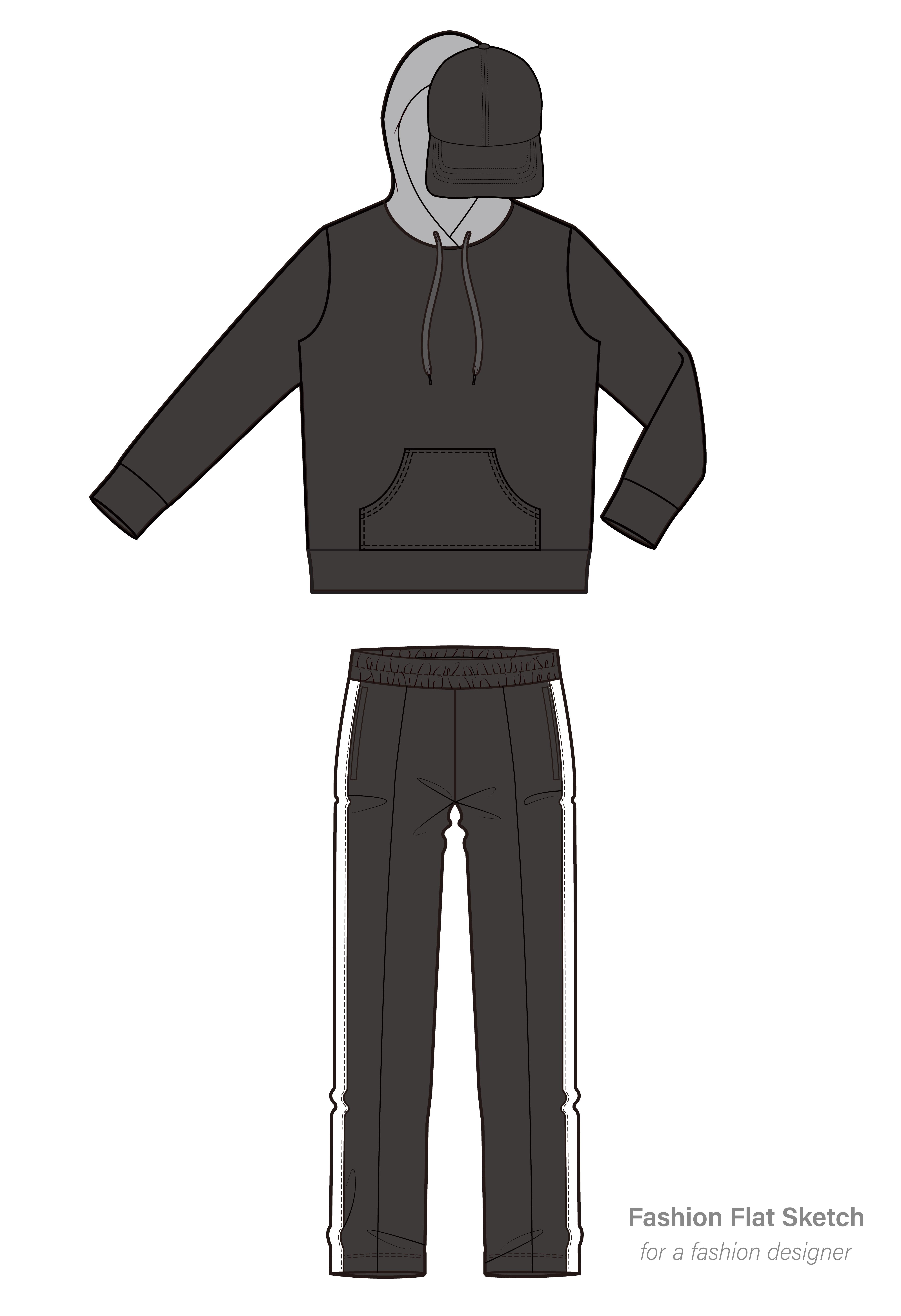 ce8cef581c Hoodie Flat Drawing | Free download best Hoodie Flat Drawing on ...