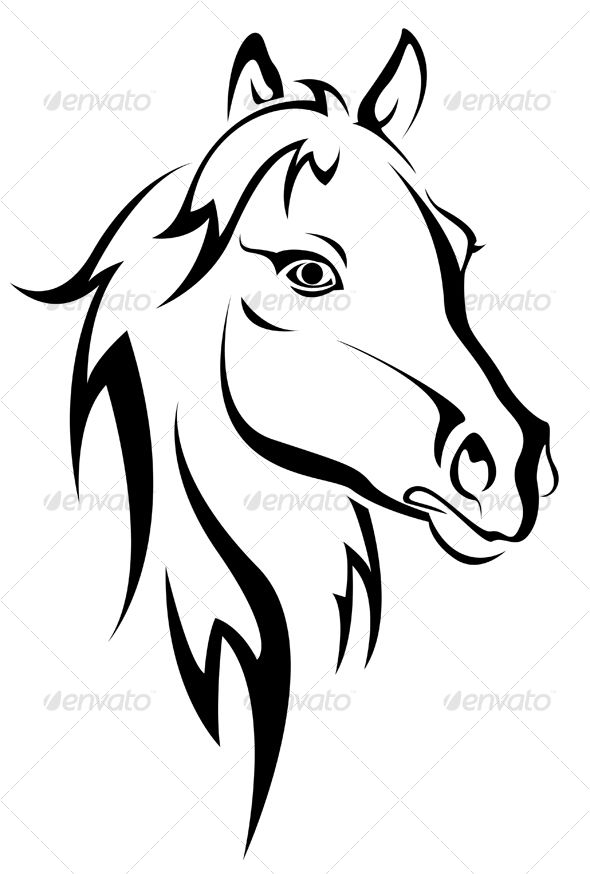590x874 Horse Drawing Stencil For Free Download