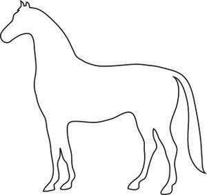 300x282 Free Horse Clip Art Image Outline Drawing Of A Horse