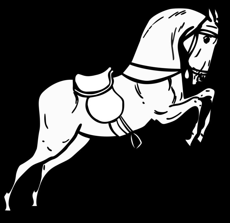 774x750 Horse Drawing Black And White Cartoon Line Art Cc0