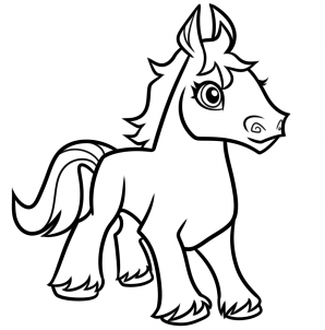 298x302 Horse Drawing Easy Clip Art